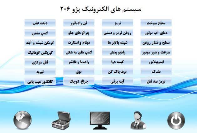 سیستم های الکترونیک پژو 206